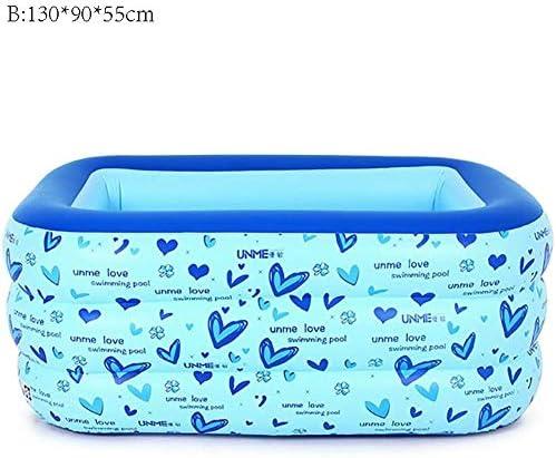 幼児の子供インフレータブルプールファミリースーパーマリンボールプール肥厚ホーム大人用プール(色:B:130 * 90 * 55センチメートル)