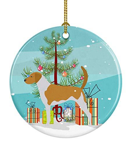 American Foxhound Christmas Ornament - Caroline's Treasures American Foxhound Merry Christmas Tree Ceramic Ornament