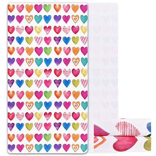 Alishomtll Valentine's Day Beach Towel, Colorful Hearts Beach Towel Super Soft Water Absorbent Beach Towel Sand Proof Beach Towels, 31.5 x 58.3 inches, Gift