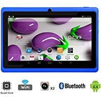 Tagital 7' Quad Core Android 4.4 KitKat Tablet PC, Dual Camera, Google Play Store, 2016 Newest Model (Blue)