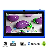 """Tagital 7"""" Quad Core Android 4.4 KitKat Tablet PC, Dual Camera, Google Play Store, 2016 Newest Model (Blue)"""