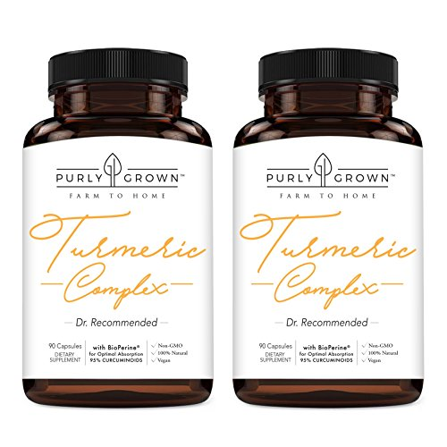 Turmeric Curcumin, BioPerine & Black Pepper 1500mg Blend: Daily Anti Inflammatory Supplement for Health & Joint Benefits | Turmeric Root Extract and Organic Powder (180 Count, Organic)