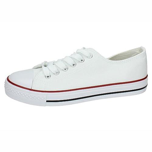 DEMAX FY-1 Zapatillas DE Lona Mujer Zapatillas Blanco 41: Amazon.es: Zapatos y complementos