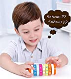 Math Operation Toy Wooden Rotating Cylinder Block