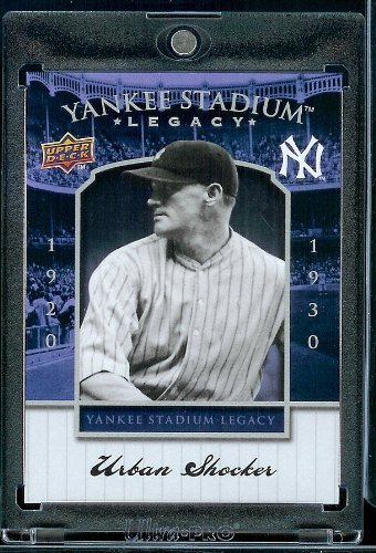 2008 Upper Deck Yankee Stadium Legacy Collection # 9 Urban Shocker - New York Yankees - Limited Edition MLB Baseball Trading Card
