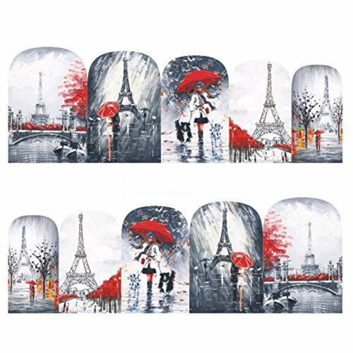 1 Pack Fancy Red Man Women Romantic Nail Art Sticker Water Transfer Nails Wrap Paint Tattoos Stamper Plates Templates Tools Tips Kits Fanciness Popular Holiday Stick Tool Vinyls Decals Kit, -