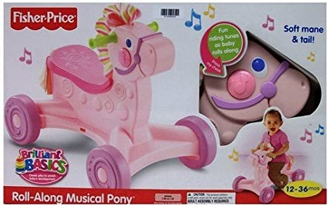 Fisher Price - Andador Pony Musical Rosa: Amazon.es: Juguetes y juegos