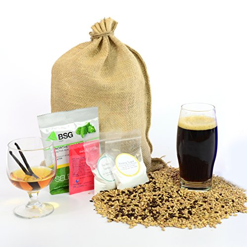 1 Gallon Home Brewing Homebrew Recipe Kit, Bourbon Vanilla Porter, 7.6% (Small Beer Brewing Kit compare prices)
