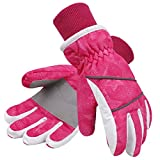 Simpli-Kids Girl's Waterproof Thinsulate Winter Ski & Snowboard Gloves, Stars Pattern,S,Pink