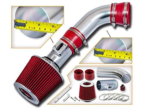 Rtunes Racing Short Ram Air Intake Kit + Filter Combo RED For 08-12 Colorado 2.9L L4/3.7L L5 ()