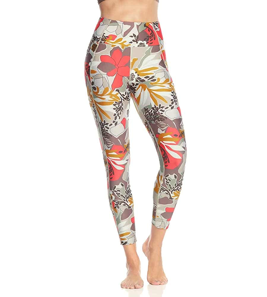Bloomer Cocoa Flowers Maaji Womens Dazeful High Rise 7 8th Length Legging Leggings