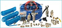 """Complete Compressed air Tubing Kit assembly Inlcudes 1/2"""" Tubing and 1/2"""" Threads, M3800 Maxline Kit, 1/2"""" Filter Regulator, 3 Poly Refinforced Hoses with Quick Disconnects"""