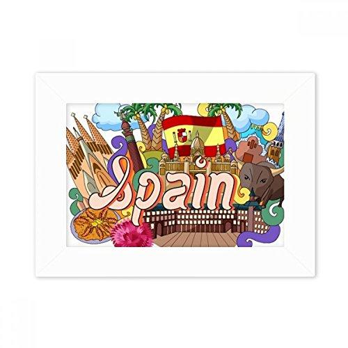 DIYthinker Prado Seafood Spain Graffiti Desktop Photo Frame White Picture Art Painting 5x7 inch by DIYthinker