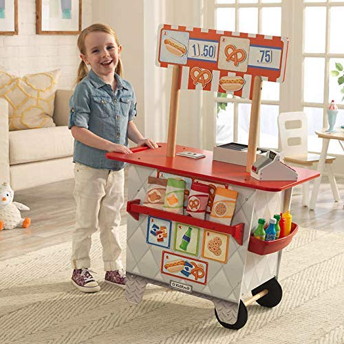 My Ultimate Snack Stand with EZ Kraft Assembly 360° Play 54-Piece Food & Accessory Set