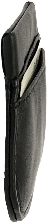 pour Poches Pantalon ou Veste Cuir Agneau id/ée Cadeau Noir Clic Clac Bonne qualit/é LOLUNA/® Porte-Monnaie Homme Plat Souple Ressort
