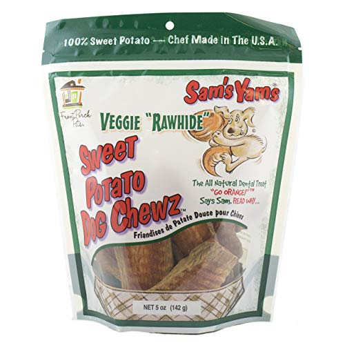 (Sam'S Yams Veggie Rawhide Sweet Potato Dog Treats, 5-Ounce)