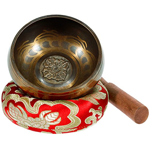 Rovtop Tibetan Singing Bowl Set for Meditation Chakra Healing, Prayer ,Yoga, and Healing Through Vibration Buddhism Singing Bowl