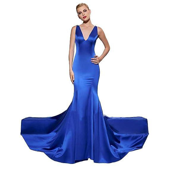 Vestido azul largo accesorios