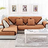 Furniture Couch Cover Combination Solid Warm Plush Seat Sofa Covers for Home Living Room Decorative Slip Resistant Sofa Slipcover(Pillow Case 18 X 18 Inch)