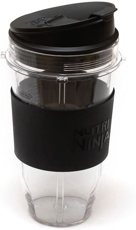 Genuine Nutri Ninja Blender 24 oz Cup with Sip N Seal Lid and silicone grip sleeve   Auto IQ Duo / Don't be fooled by cheap cups