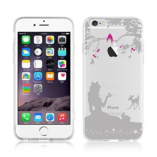 407 opinioni per Cover iPhone 6, JAMMYLIZARD [Sketch] Custodia in Silicone Trasparente Semi