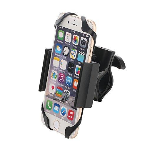 Fahrrad Handyhalterung, Spalyer Smartphone Handyhalter Matorrad und GPS Gräte Halter mit 2 Gummibanfixierung, Schwrz