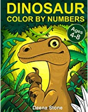 Dinosaur Color By Numbers: Coloring Book for Kids Ages 4-8 | Great Gift For Boys & Girls