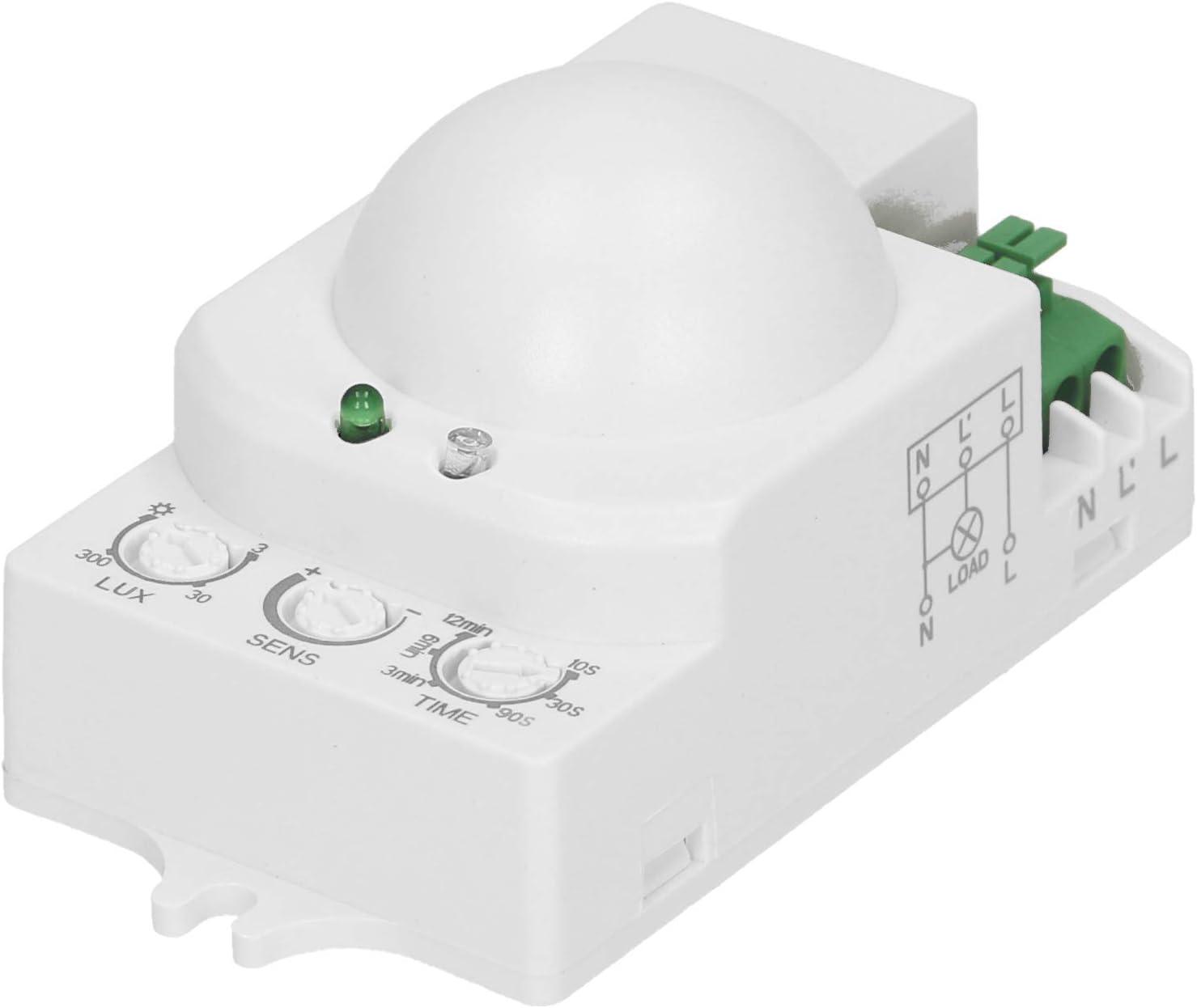 ORNO OR- CR-208 Mini de microondas Sensor de Movimiento 360 grados internos con sensor crepuscular LED Compatible