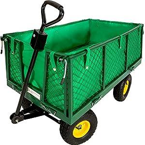 tectake chariot de transport jardin remorque main charrette bras chariot a bras 550kg. Black Bedroom Furniture Sets. Home Design Ideas
