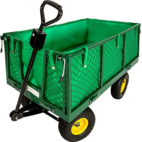 166 opinioni per TecTake Carretto carrello rimorchio in ferro rimorchio trasport legna giardino
