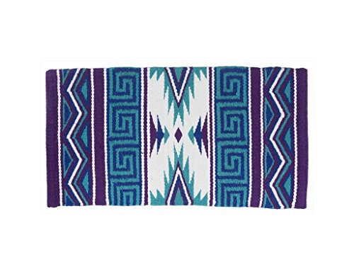 Tough 1 Mayan Navajo Wool Saddle Blanket Teal by Tough 1 (Image #1)