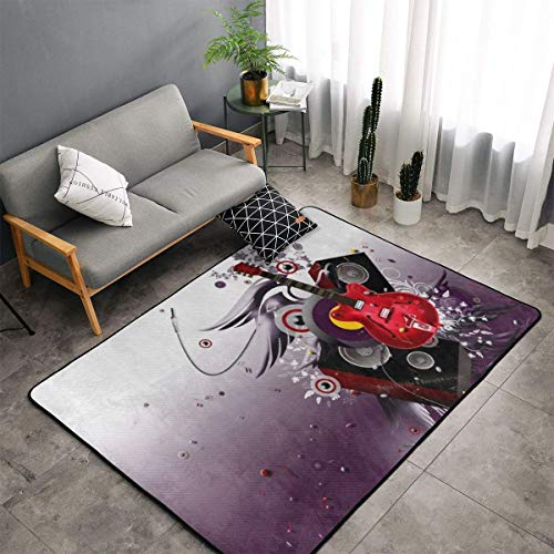 - Indoor Modern Soft Floor Area Rugs Fluffy Machine Washable Carpets 60