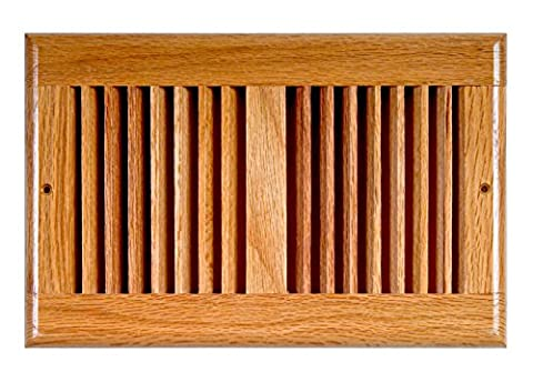 Accord AORGOLL106 Oak Return Grille, 10-Inch x 6-Inch(Duct Opening Measurements), Light Finish - Grille Supporto