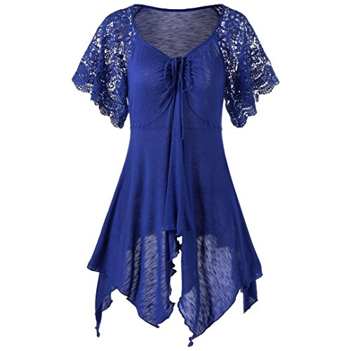 DIANA'S Dress, Women Bandage High Waist Short Lace Floral Patchwork ()