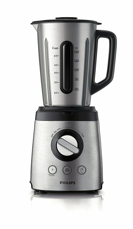 Philips HR2097/00 - Batidora, 800 W, jarra de acero inoxidable de 2 l con espátula