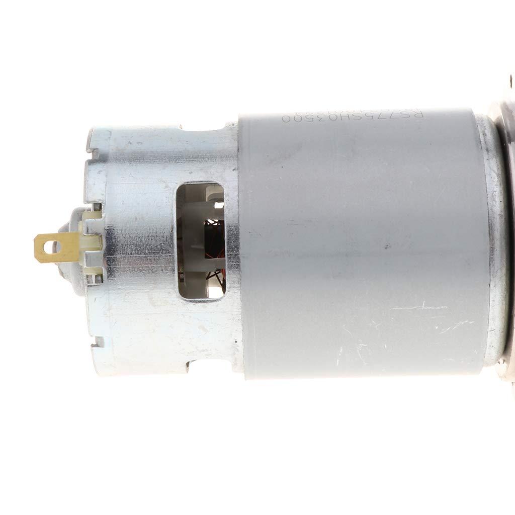 10RPM IPOTCH Riduttore velocit/à Motore Elettrica Ingranaggio Coppia Elevata Basso Numero Cambio Metallo DC 24V