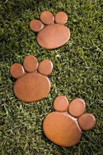 product image for Piazza Pisano Bear Paw Stepping Stones - Set of 3 Garden Stepping Stones