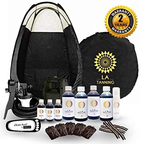 STAR BUY!!Latest Spray Tanning Kit! TS20 Machine, Black Tent, 7 Bottles of...