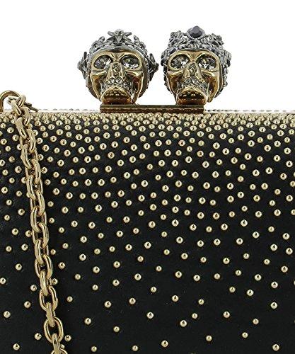 Noir Cuir 509507DP6SZ1000 Pochette Femme Alexander McQueen 7pFBY