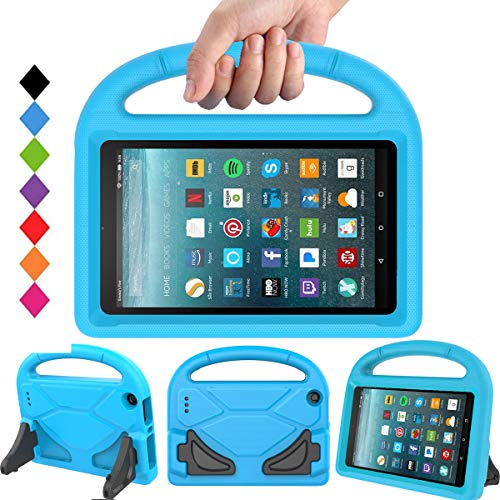BMOUO Kids Case for All-New Amazon Fire 7 2017 - Light Weight Shock Proof Handle Convertible Stand KidProof Cover Case for Fire 7 Tablet (7th Gen, 2017), Blue