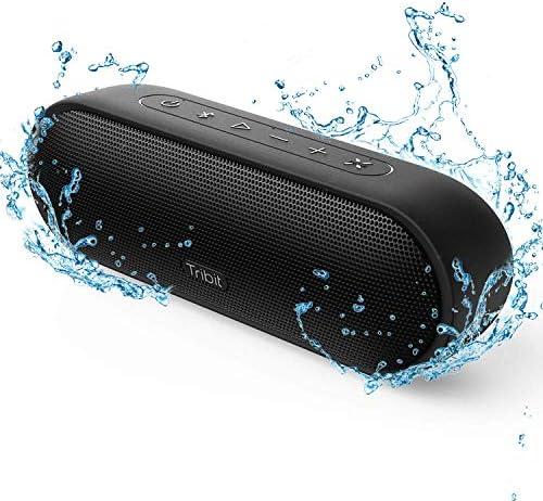 【2019年最新版】Tribit MaxSound Plus bluetoothスピーカー ワイヤレススピーカー ブルートゥーススピーカー 24W ポータブルスピーカー 20時間連続再生 IPX7完全防水 マイク内臓 高音質 18ヶ月品質保証 ブラック