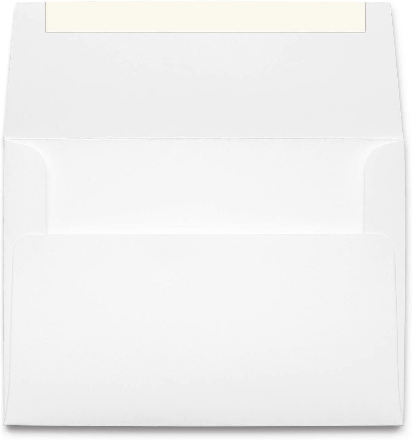 Heavyweight A2 White Self Seal Invitation Envelopes - Peel & Seal Strip - Made from Thick 70lb Stock (100 Envelopes)