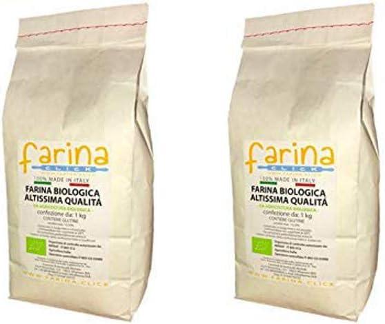 2 kg semola biologica di grano duro italiano bio farina per pasta (2 pz confezioni da 1 kg) B07STGYF37
