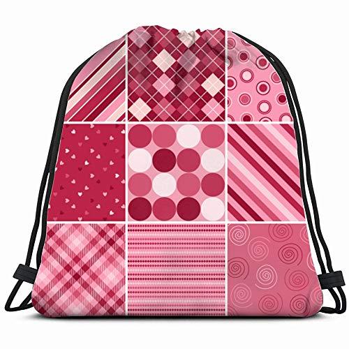 (Set Nine S Valentines Day Holidays Illustrations Clip Art Drawstring Bag Backpack Gym Dance Bag Reversible Flip Sequin Bling Backpack For Hiking Beach Travel Bags)