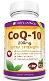 Coq10 200mg 120 Capsules - Extra Strength - Coenzyme Q10 Ubiquinone - Nutrissence - 4 Month Supply