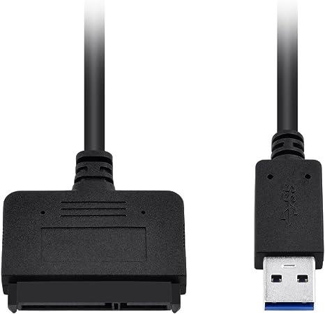 Top-Longer Cavo Adattatore per Dischi Rigidi USB 3.0 a SATA III da 2.5 con UASP Convertitore per Unit/à SATA HDD//SSD da 2,5