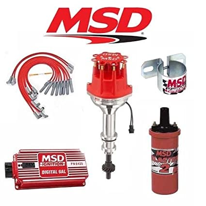 amazon com msd 9024 ignition kit digital 6al distributor wires coil msd 9024 ignition kit digital 6al distributor wires coil ford 351c m