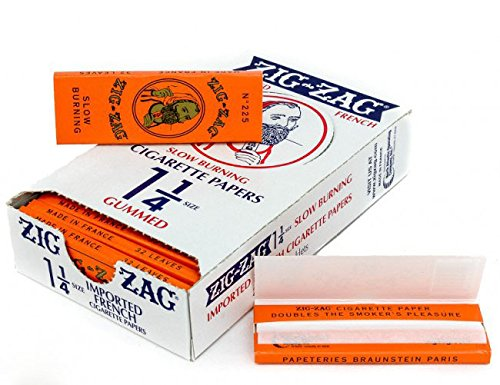 5 Books Zig Zag Rolling Papers Orange 1 1/4 with Free BB Sticker ()