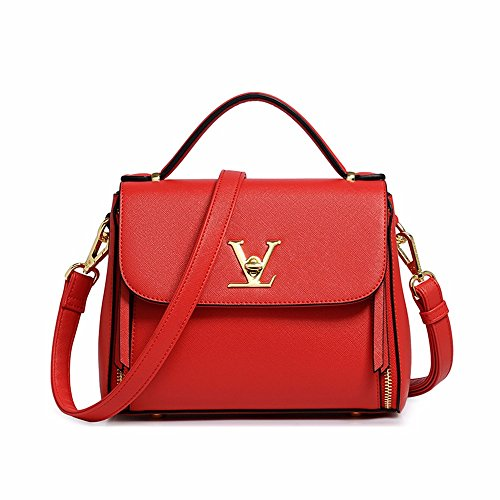Crossbody rojo Beige Bandolera Bolso Mujer Bag CCZUIML fY10PgP