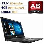 Dell Inspiron 15 3573 15.6'' FHD LCD High Performance Laptop, Intel Celeron Processor N4000, 4GB DDR4 RAM, 500GB HHD, Webcam, Wireless+Bluetooth, HDMI,Window 10 5